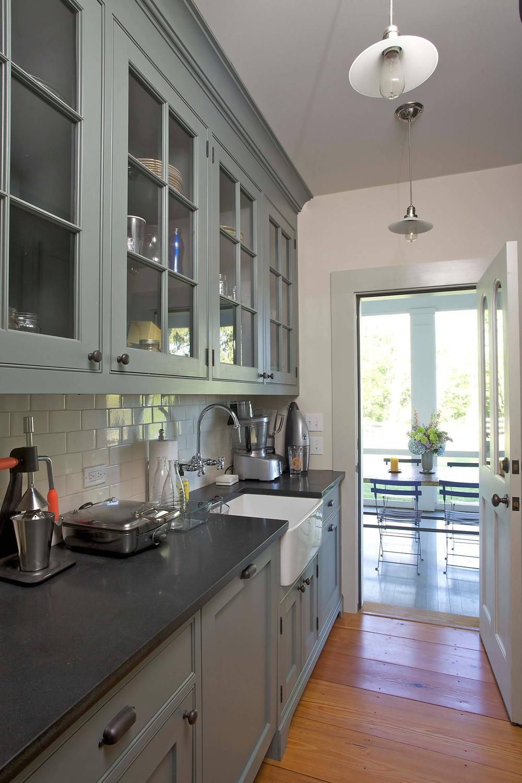 Duxbury Gray, White Dove, Farmhouse Kitchen