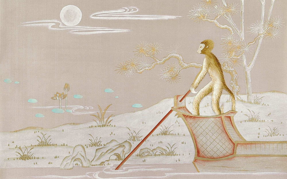 Fromental Singeries Wallpaper Chinoiserie