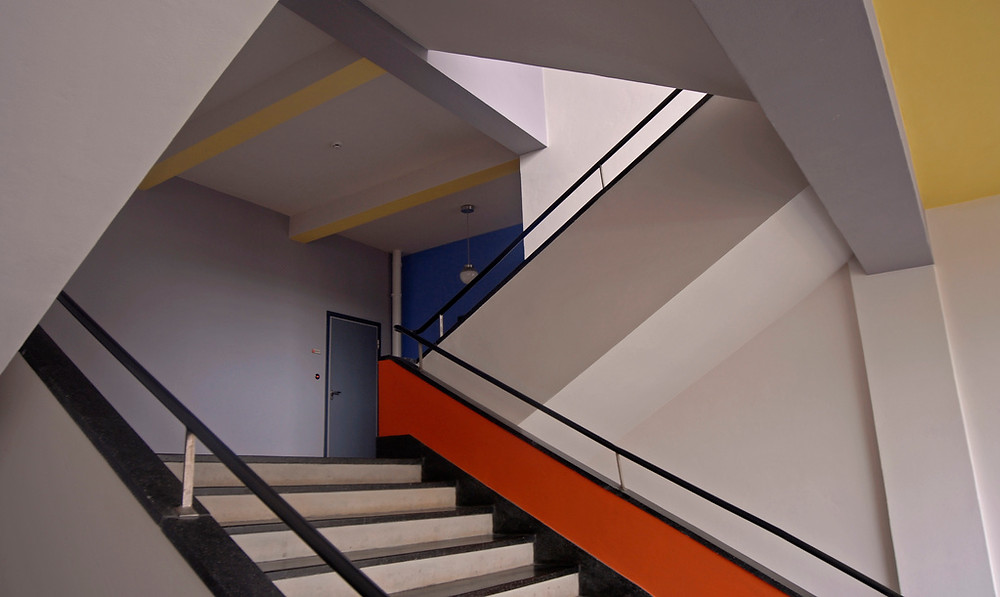 Bauhaus School Flickr Blue Red Yellow Primary Germany