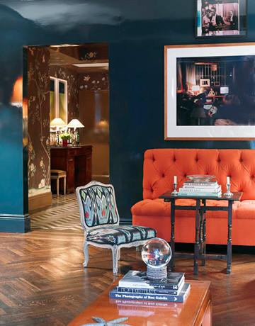 Miles Redd Mark D Sikes Living Room Blue Orange