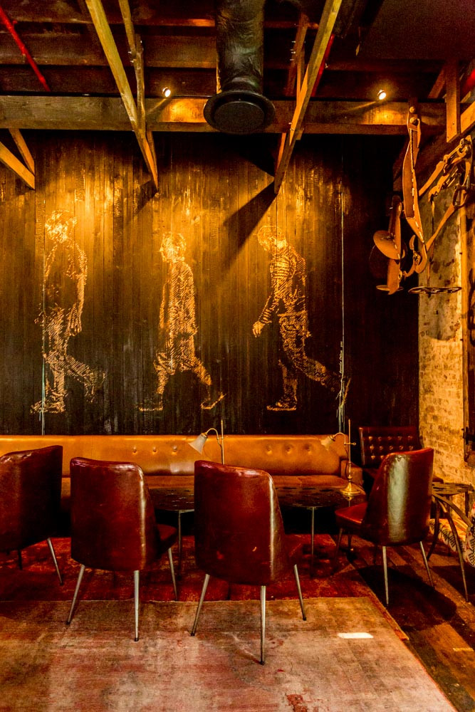 Artwork by Peter Eastman in the 'dark room' at Cape Town's The Test Kitchen. Photograph: Jaime Kowal
