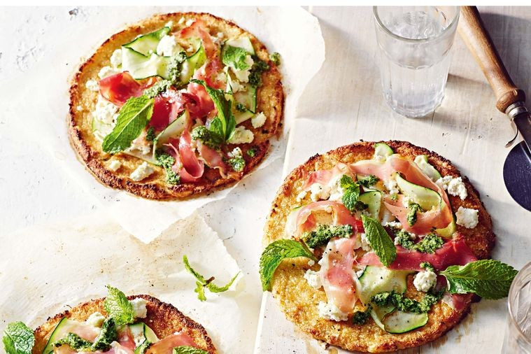 Gluten-free cauliflower pizzas