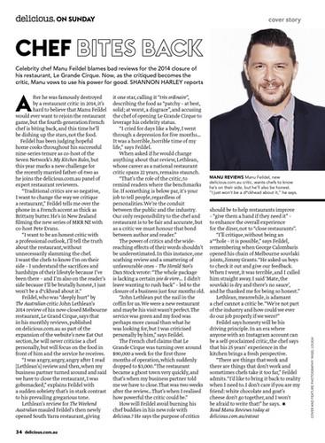 Manu Feildel, delicious. on Sunday in Stellar Magazine