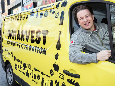 Chef Jamie Oliver UKHarvest ambassador