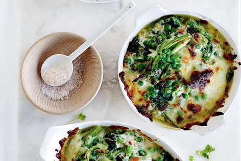 Super green breakfast gratin