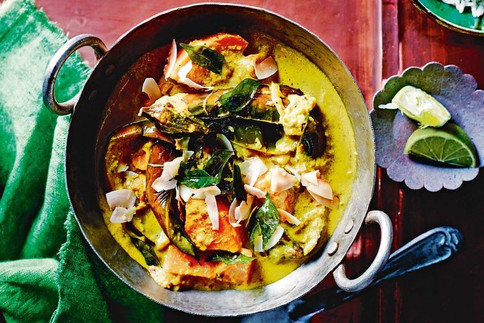 Sweet potato & aubergine curry