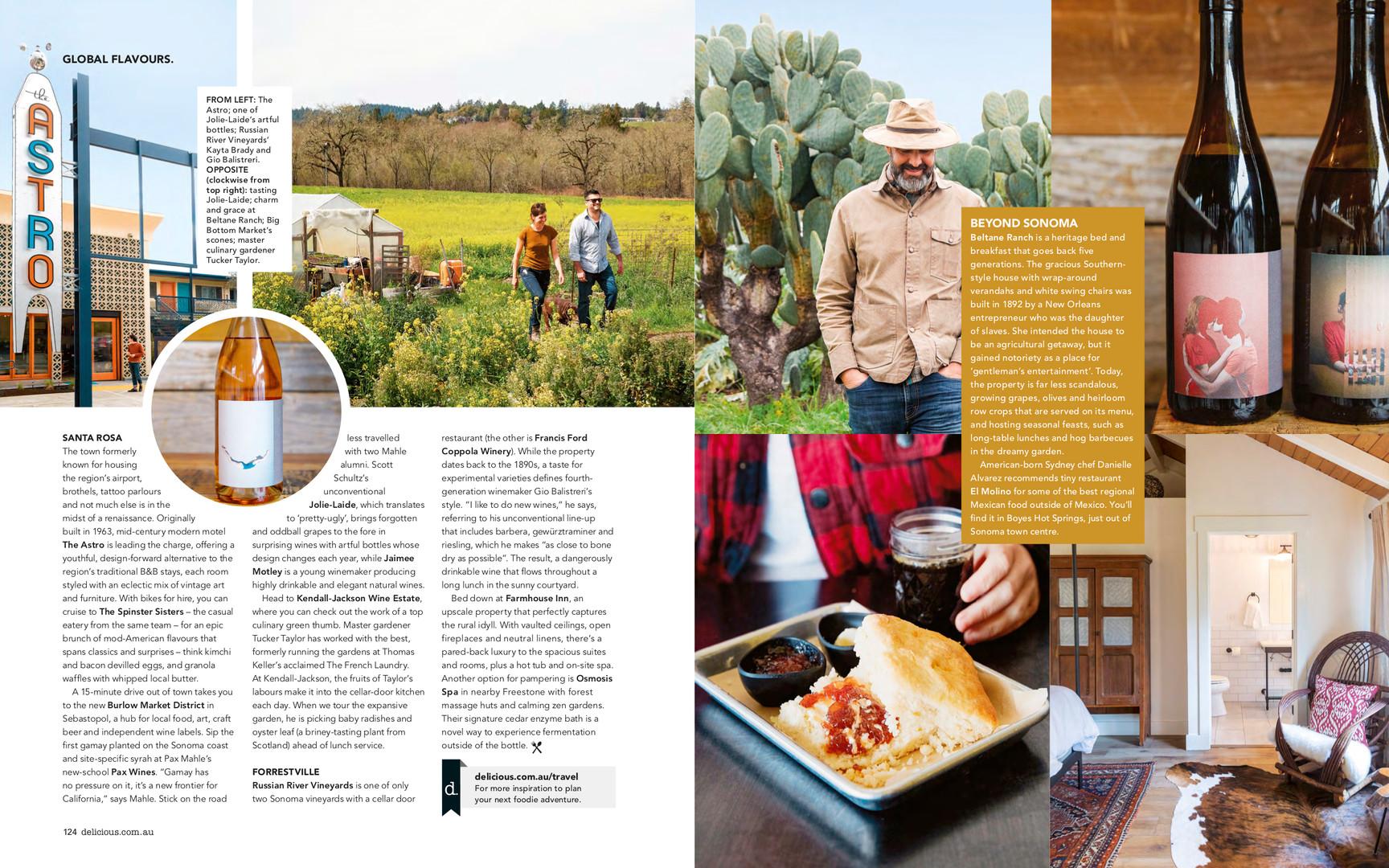 Sonoma, delicious magazine