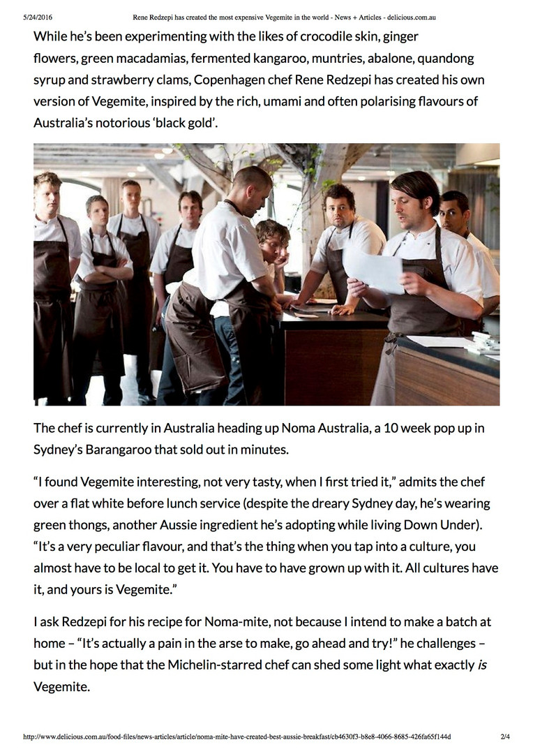 Rene Redzepi Noma Australia pop-up interview, delicious.com.au