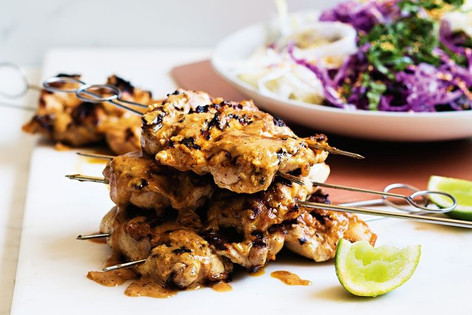 Almond butter satay chicken