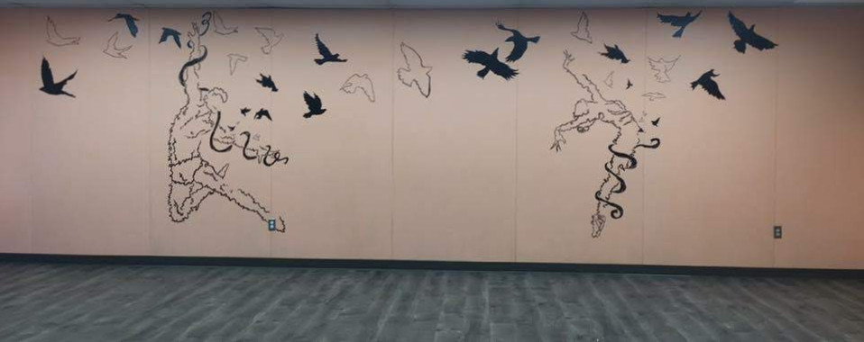 A mural I painted for my high school dance studio.