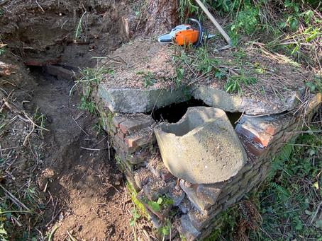 Historische Dorf Wasserleitung gefunden