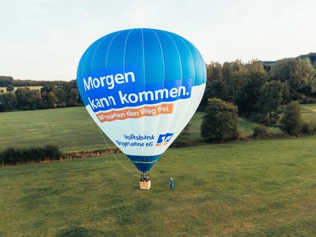 Volksbank Ballon über Altenvalbert