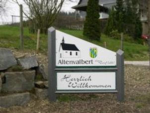 Dorfschild Altenvalbert Sauerland
