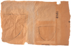 drawing on brown paper 6-01, 50 x 72cm