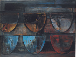 vessels with numbers 3-02 oil-canvas 120