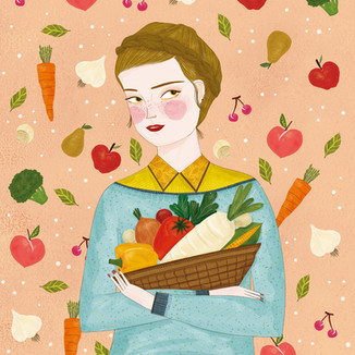 [Park-ringo]Green-vegetables-and-girl