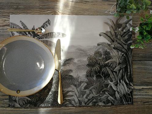 """BEAUMONT/PÔDEVACHE - Set de table - """"Bananiers2"""""""