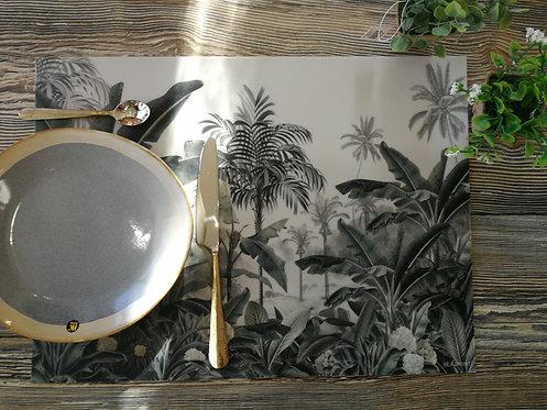 """BEAUMONT/PÔDEVACHE - Set de table - """"Bananiers"""""""