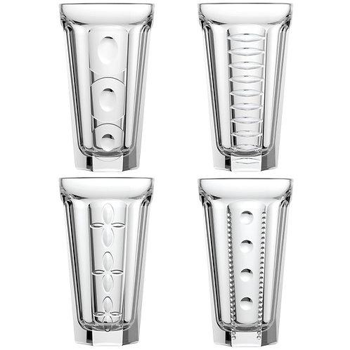 LA ROCHERE - DRING LONG - lot 4 verres haut