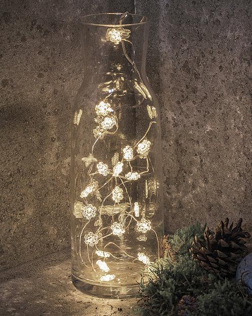SIRIUS - NYNNE – GUIRLANDE LUMINEUSE FLOCONS DE NEIGE 20 LED