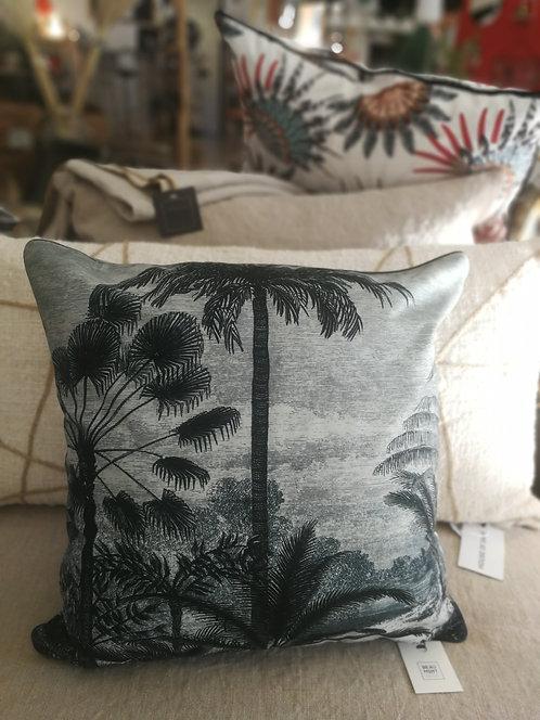"""Coussin Velours """"palmiers""""- 45 x 45 cm - BEAUMONT-PÔDEVACHE"""