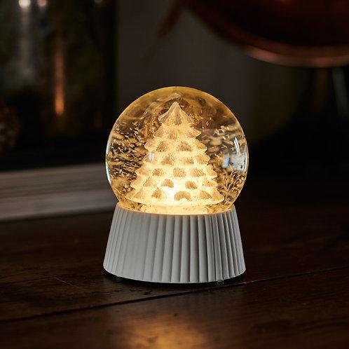 SIRIUS - CILJA Boule enneigée/lumineuse Sapin D10cmxH12, 5cm