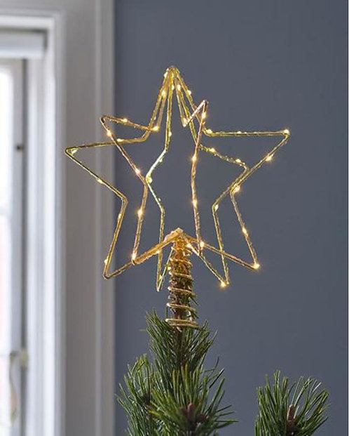 SIRIUS - CHRISTINA Étoile de Noël Gold/sommet du sapin H25cm