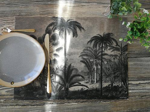 """BEAUMONT/PÔDEVACHE - Set de table - """"Jungle"""""""