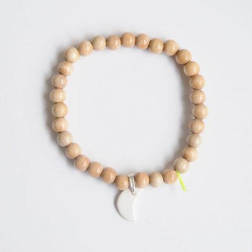 Bracelet Wood Naturel 6mm - Margote Ceramiste