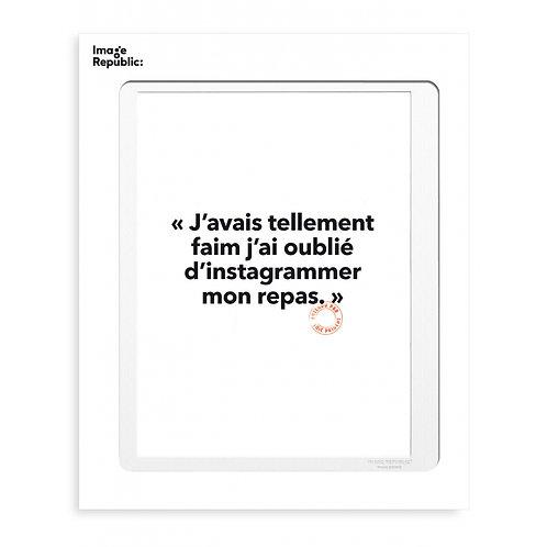 """IMAGE REPUBLIC - Affiche """"FAIM"""""""