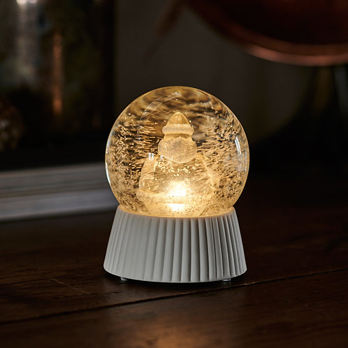 SIRIUS - SANTA Boule enneigée/lumineuse Père Noël D10cmxH12, 5cm