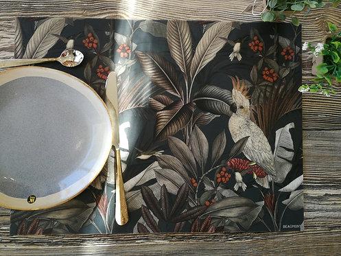 """BEAUMONT/PÔDEVACHE - Set de table - """"Perroquet"""""""