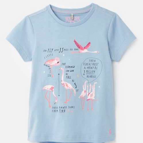 NWT Pink Flamingo Blue Sustainable Cotton Tee