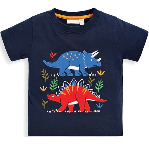 NWT Dinosaur Appliqued Cotton Tee Shirt