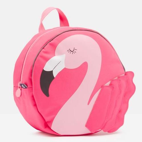 "NWT Pink Flamingo 10"" Round BackPack Reflective"