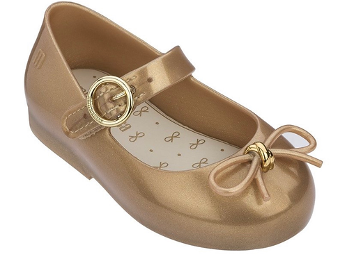 NIB Mini Melissa Sweet Love Gold Shoes SALE  7, 8 and 10 ONLY