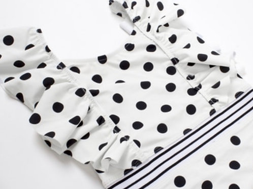 NWT Shade Critters White / Black Polkadots Swimsuit SALE