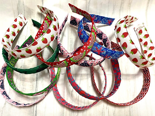 NEW Preppy Girls Fabric Headbands Different Prints