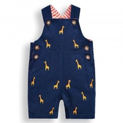 NWT Giraffe Embroidered Cotton Overalls - Infant