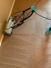 Encapsulation Machine during Apartment Carpet Cleaning.