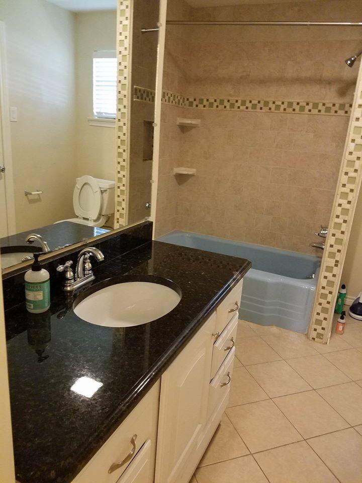 bathroom cleaned