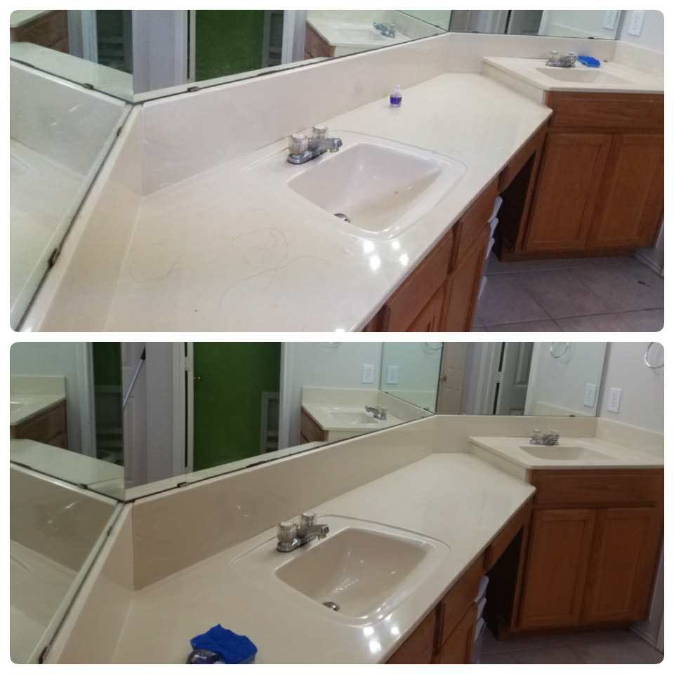 Before & After (Bathroom Counter)