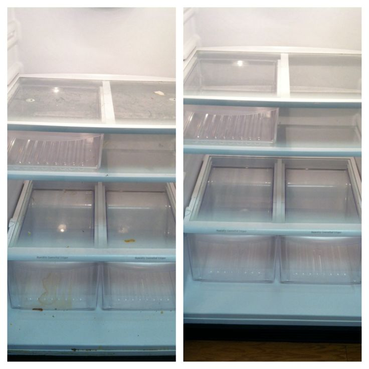 Before & After (Inside Refrigerator)