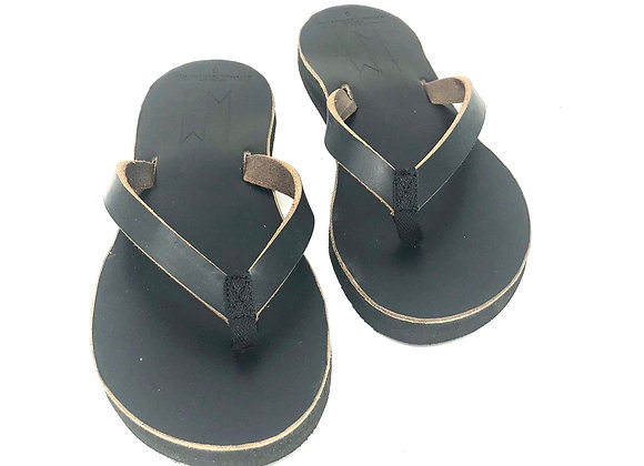 JORDANN - BLACK WOMENS LEATHER SANDALS