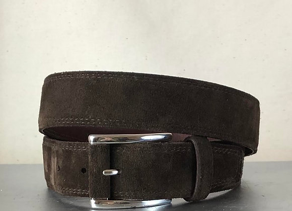 LUKE -GENUINE ENGLISH CALF SUEDE MENS BELT