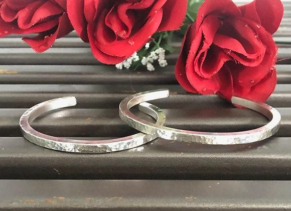 Sterling Silver Hand Hammered Bracelet