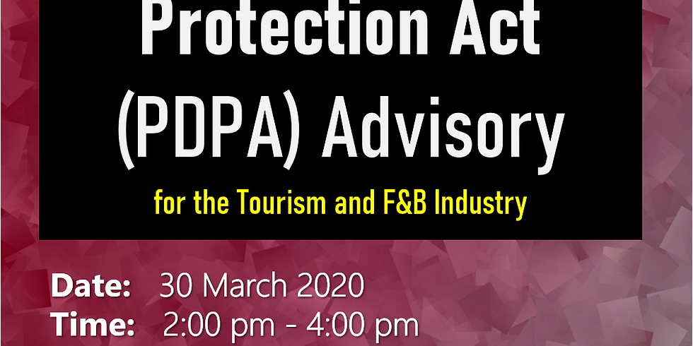 Personal Data Protection Act (PDPA) Advisory for Tourism and F&B Industry