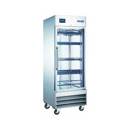 HDS | Reach-in Glass Door Refrigerator - 1 Door, 23 Cu. Ft.