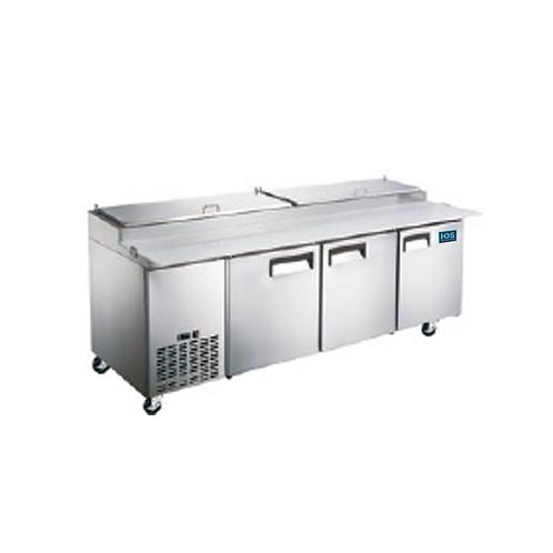 HDS | Pizza Prep Table - 3 Door, 24.2 Cu. Ft.