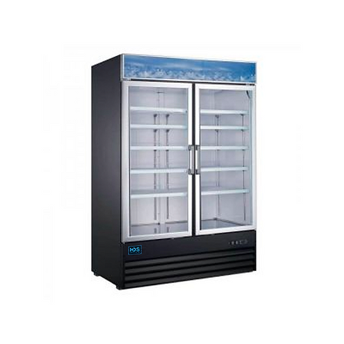 HDS | Merchandising Swing Glass Door Refrigerator - 2 Door, 45 Cu. Ft.